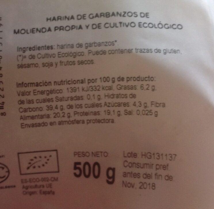 Harina de garbanzo - Producto