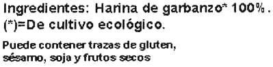 Harina de garbanzo - Ingredients