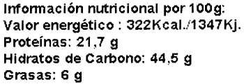 Harina de garbanzo - Nutrition facts