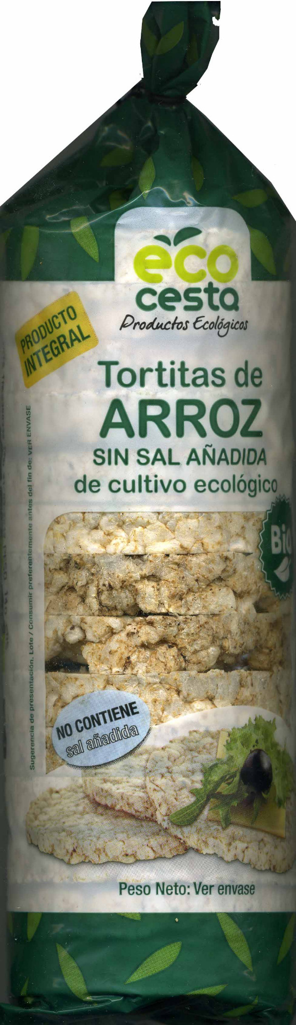 Tortitas de arroz sin sal añadida - Producto - es