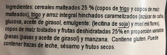 Muesli malteado - Ingrediënten - es