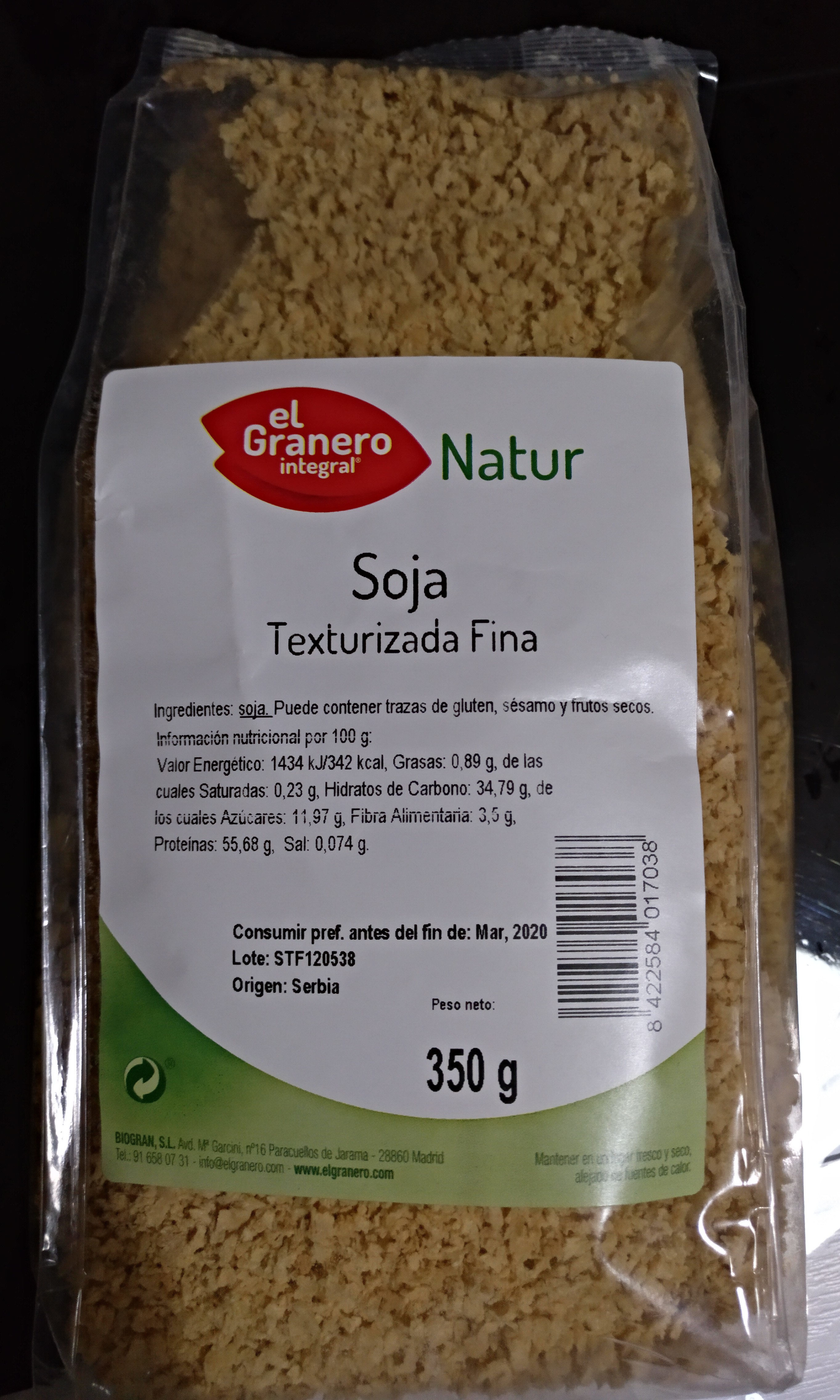 Soja Texturizada Fina - Product - es