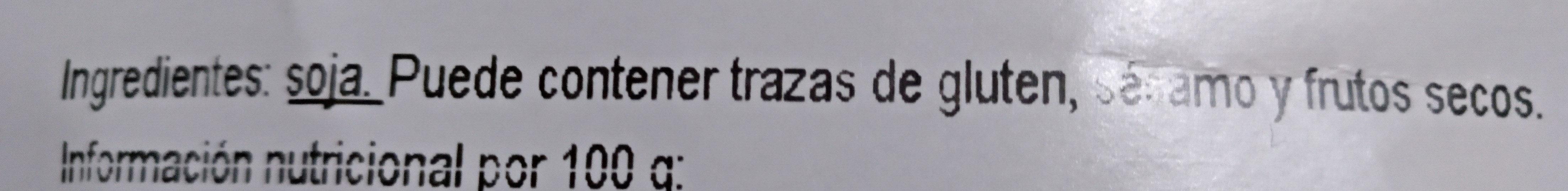 Soja Texturizada Fina - Ingredients