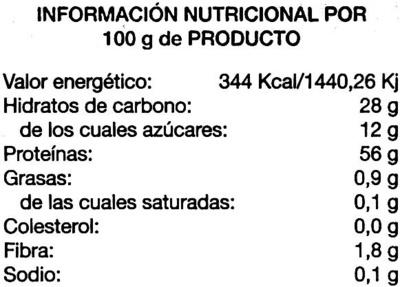 Milanesas de Soja - Informació nutricional - es