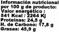 Semillas de Calabaza - Informació nutricional