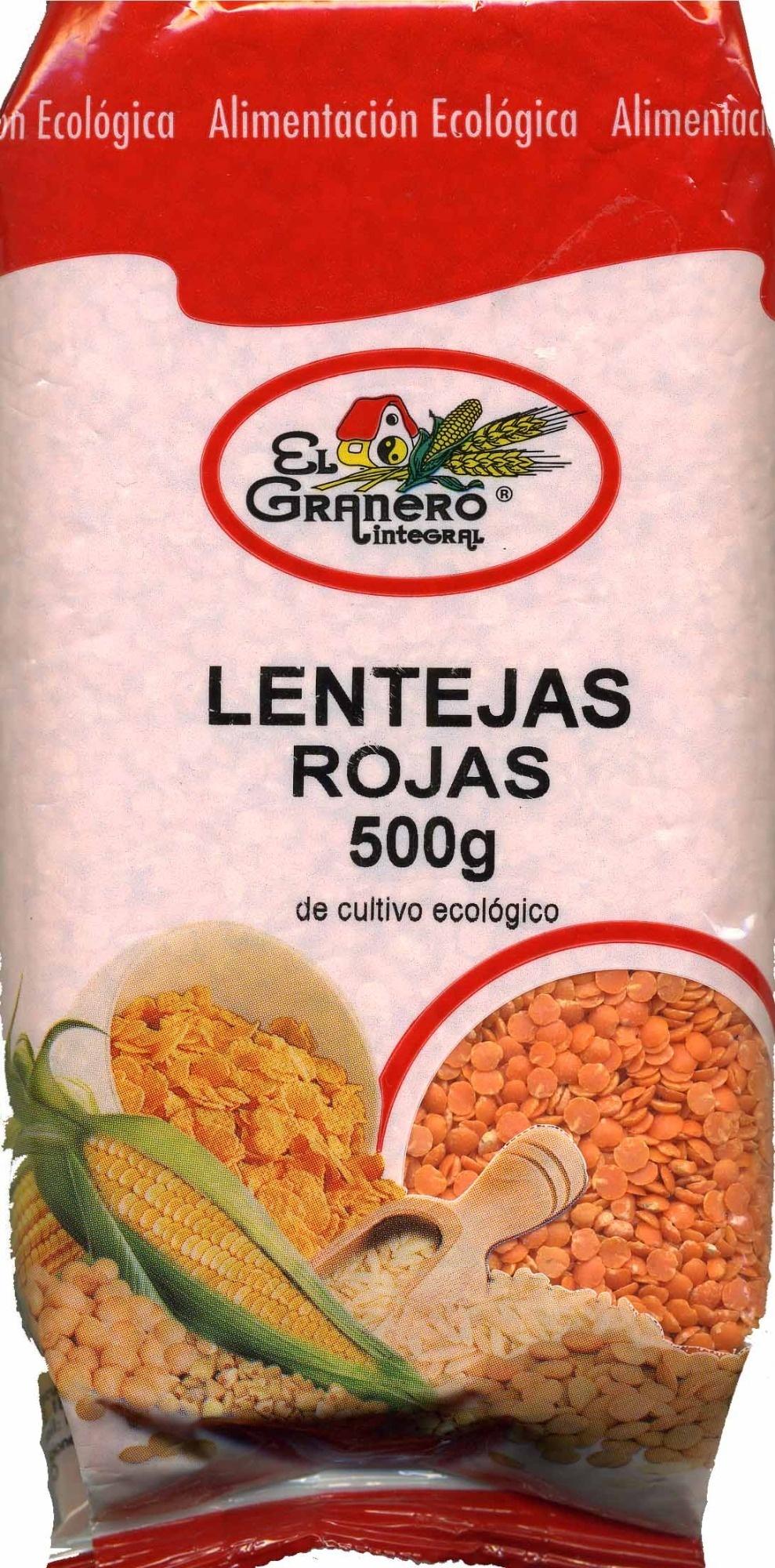 Lentejas rojas de cultivo ecológico - Product - es