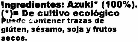 Azuki - Ingrédients