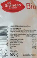 Azuki - Informació nutricional - es
