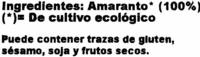 Amaranto - Ingredientes