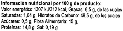 Semillas de canihua - Nutrition facts