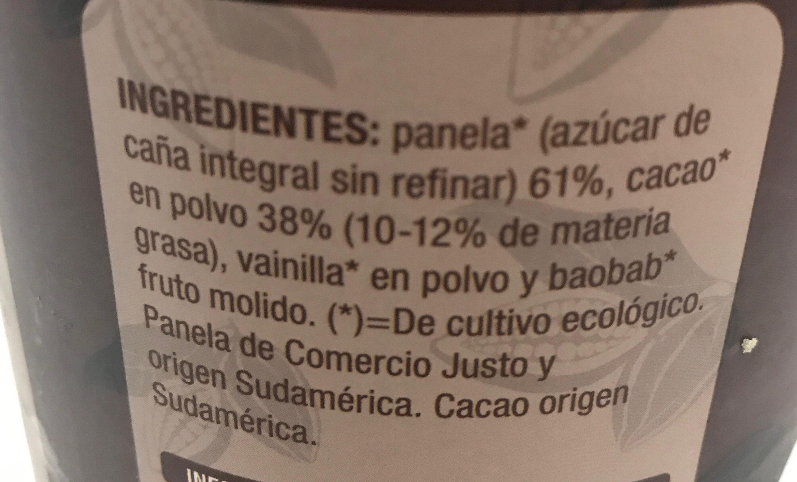 Cacao soluble con panela - Ingredients - es