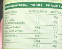 GRANOCAF - Informations nutritionnelles - es