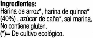 Bio tostadas con quinoa - Ingredientes - es