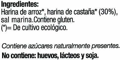 Biotostadas con castañas - Ingrédients - es