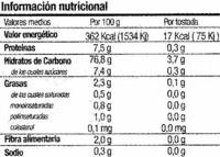Biotostadas con castañas - Informations nutritionnelles - es