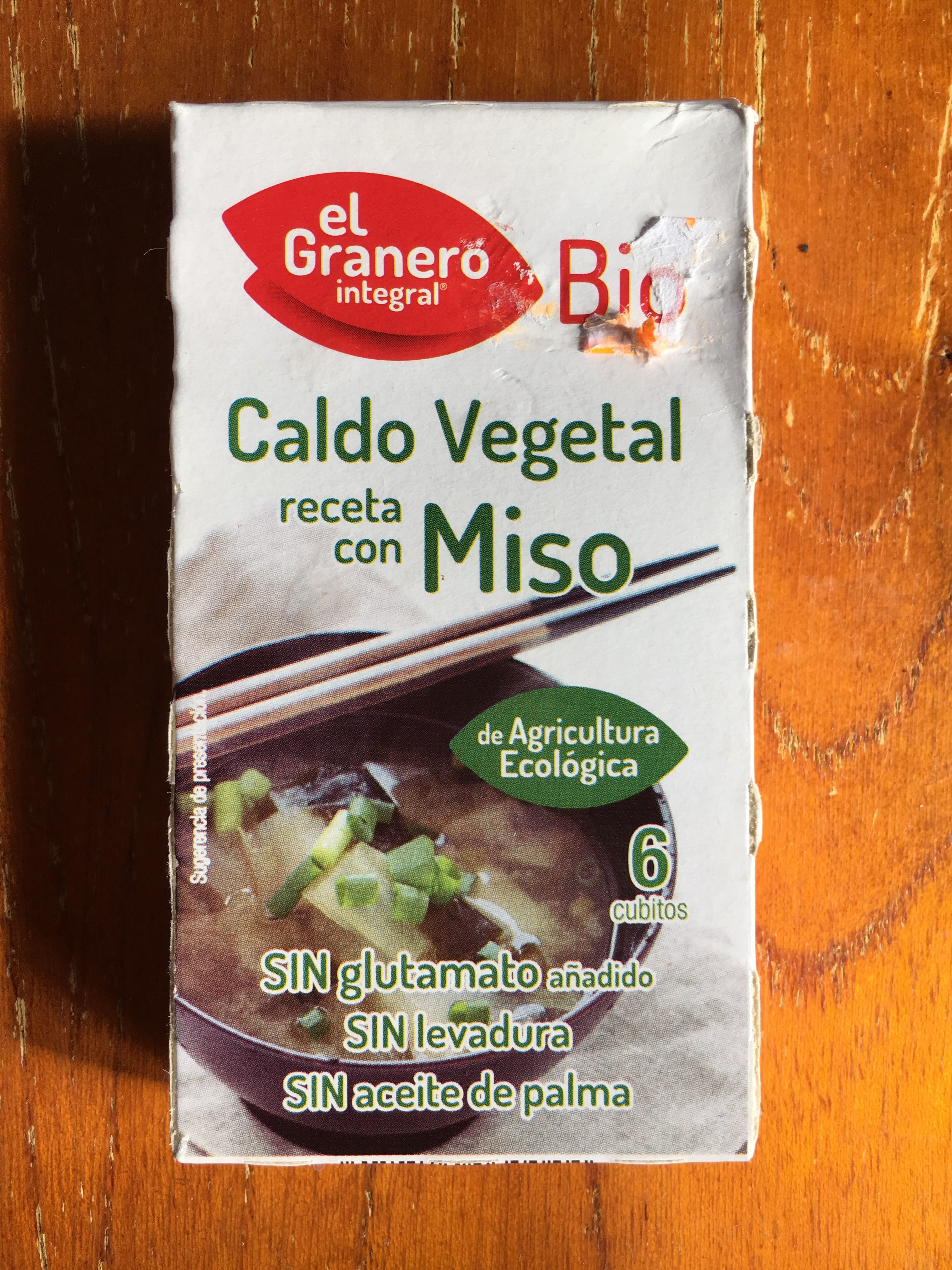 Caldo Vegetal Receta Con Miso El Granero Integral 6 Cubes