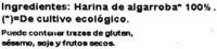 Harina de algarroba - Ingredientes