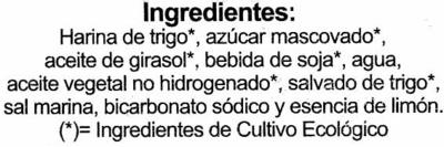 Galletas BioArtesanas Limón - Ingredientes