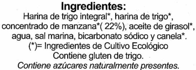 Galletas BioArtesanas Manzana - Ingredientes