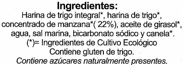 Galletas BioArtesanas con Manzana - Ingrediënten - es
