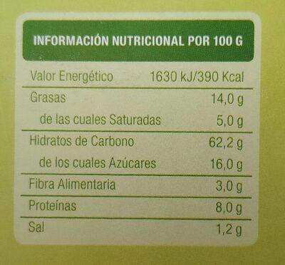 Galletas BioArtesanas con Manzana - Voedingswaarden