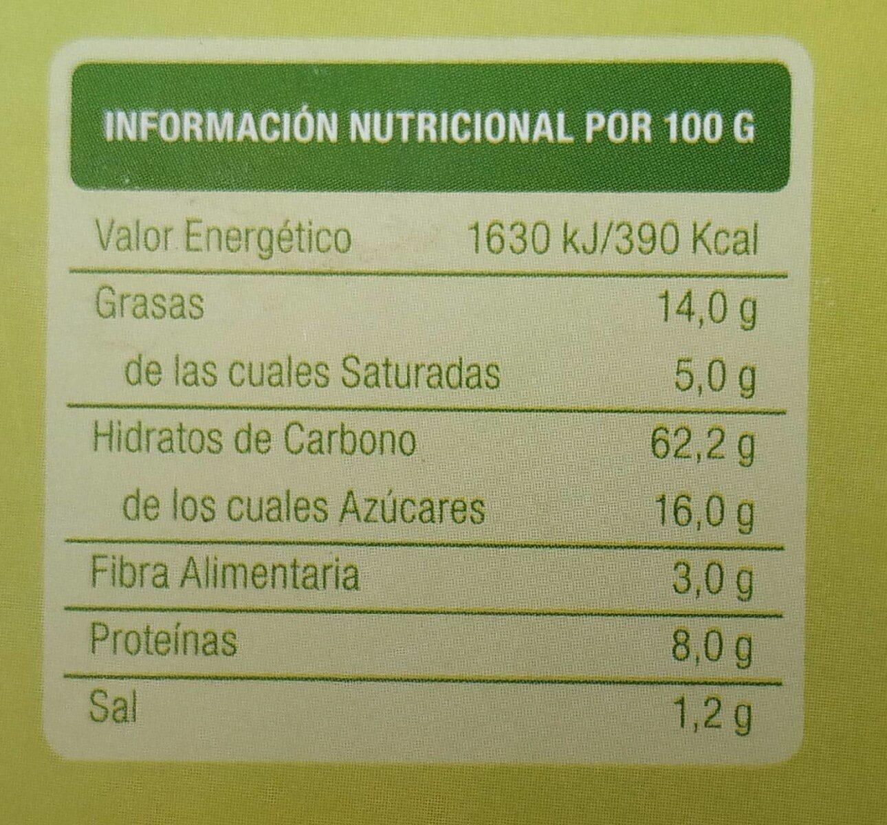 Galletas BioArtesanas con Manzana - Voedingswaarden - es