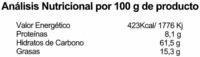 Galletas BioArtesanas Manzana - Nutrition facts