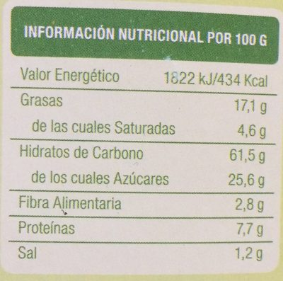 Bioartesanas con algarroba - Ingredients - fr