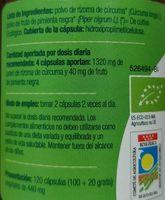 Cúrcuma + Pimienta - Ingredientes - es