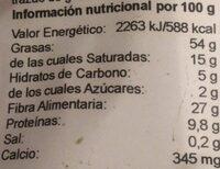 Acai en polvo - Informations nutritionnelles - es