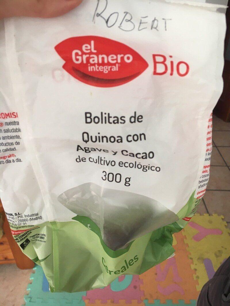 Bolitas de quinoa con agave y cacao - Product