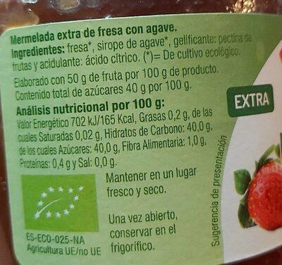Mermelada de fresa - Voedingswaarden