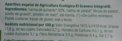 Rizos de guisantes - Informations nutritionnelles - es