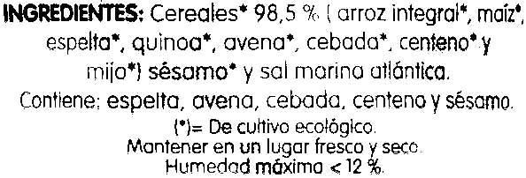 Tortitas con 8 cereales - Ingrédients - es