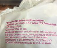 Tortitas Arroz Avena - Ingrédients - fr