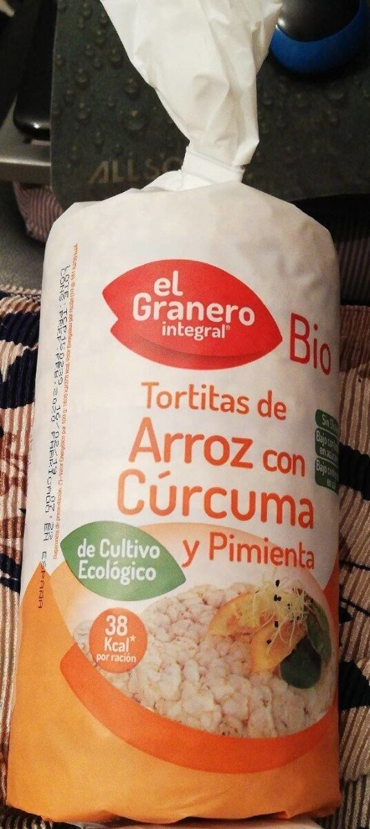 Tortitas de arroz con cúrcuma y pimienta - Producte