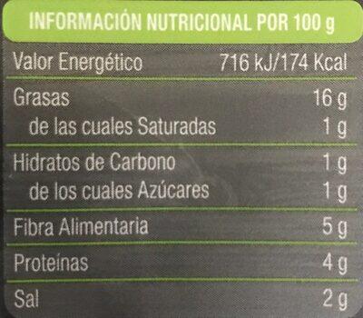 Bio lonchi-veggie lonchas sabor finas hierbas ecológicas - Nutrition facts