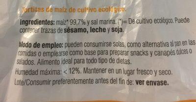 Gallette de mais - Ingredientes
