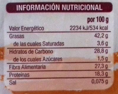 Semillas de lino - Información nutricional