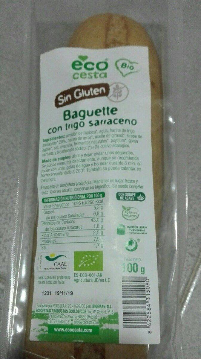 Baguette con trigo sarraceno - Producto - es