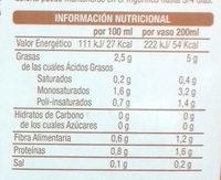 Bebida Vegetal de Almendra Sin Azúcares - Informations nutritionnelles