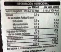 Bebida vegetal Arroz y Coco - Información nutricional
