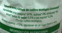 Tortitas de arroz y quinoa - Ingredients - es