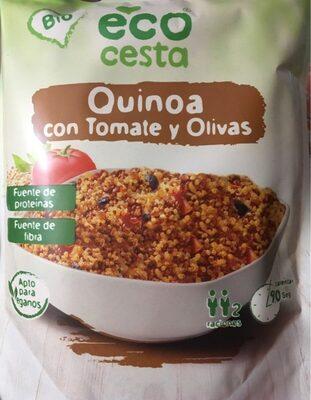 Quinoa con tomate y olivas