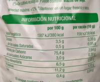 Tortitas multicereales - Informations nutritionnelles