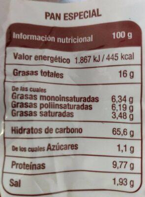 Clásicas - Informations nutritionnelles