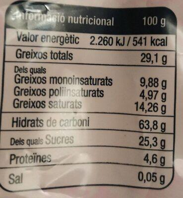 Mantecados Gori de Muro - Informació nutricional