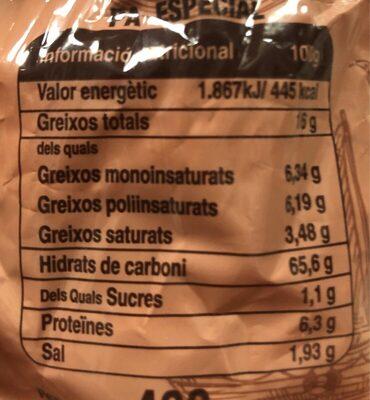 Galletas mallorquinas clásicas 400 gr - Informació nutricional
