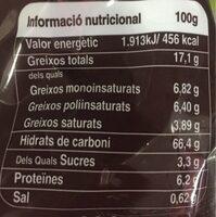 Galletas mallorquinas integrales receta tradicional - Informations nutritionnelles - es