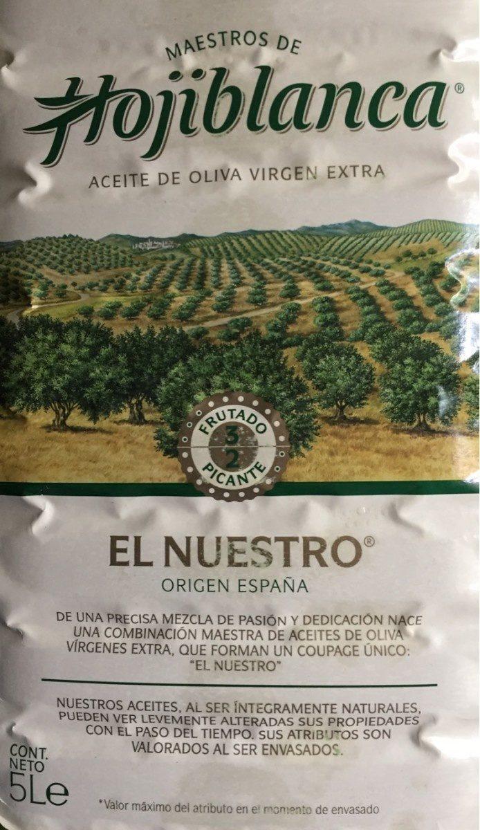 "Nativ / Extra Kaltgepresstes Olivenöl ""Hojiblanca"" - Producte"